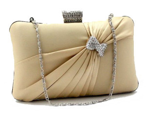 Magnificent Crystal Stripe Wedding Purse by Beige